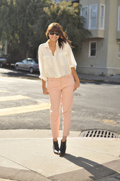 blushing ambition,pink pants,pants
