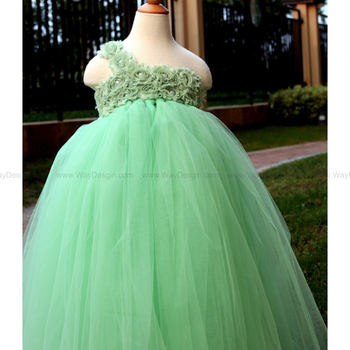 Flower girl dress Mint tutu dress baby dress toddler birthday dress wedding dress newborn