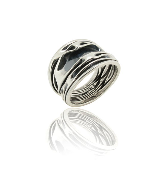 Silver Crush Ring   Silver Ring   Silver Jewellery   Stack Rings   BOHEM