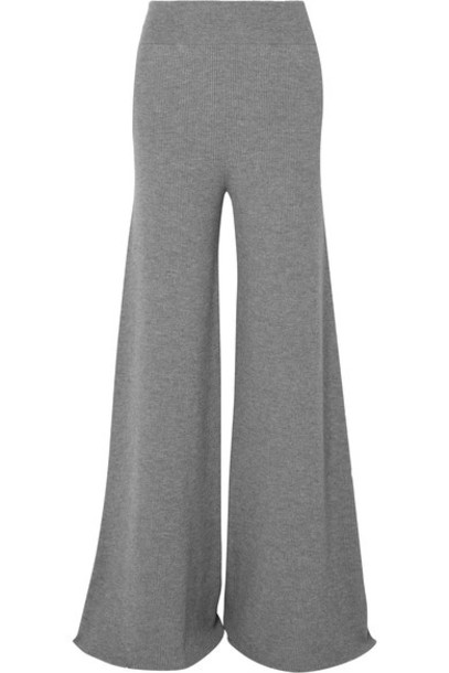 Stella McCartney pants wide-leg pants wool