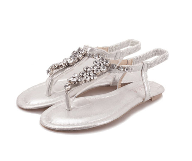 Silver Flip Flops with Rhinestones Promotion-Online Shopping for Promotional Silver Flip Flops with Rhinestones on Aliexpress.com