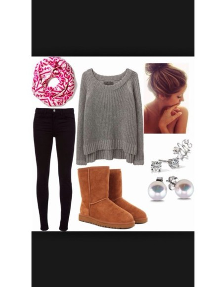 pants fall outfits scarf boots scarf, infinity
