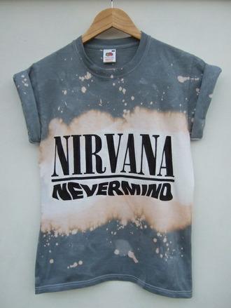 nirvana t-shirt nirvana band t-shirt t-shirt