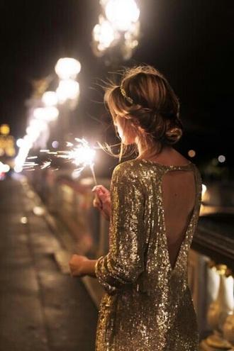 dress gold sequins gold dress