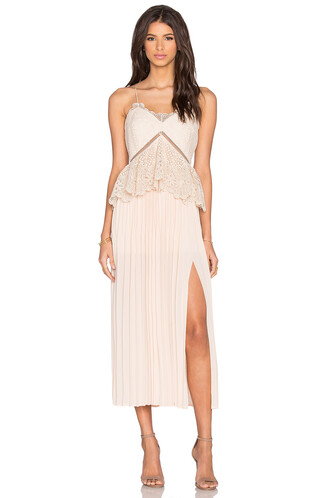 dress midi dress midi lace beige