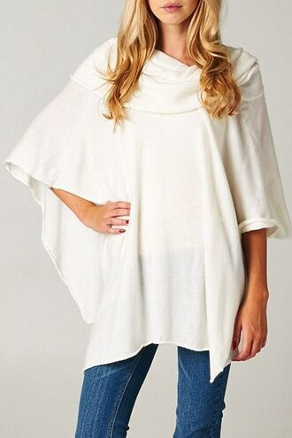cardigan white cardigan white sweater white poncho boho oversized sweater oversized cardigan