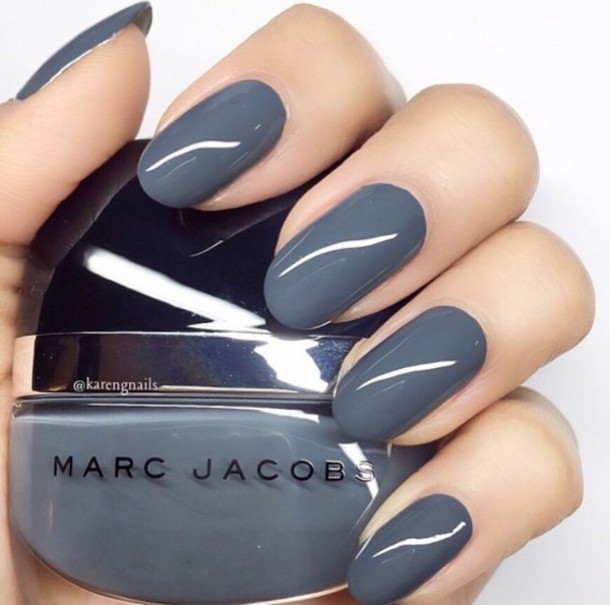 nail polish, gray nail polish, marc jacobs nail polish, nails, marc ...