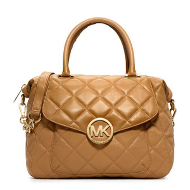 michael michael kors bags large fulton quilted satchel. Black Bedroom Furniture Sets. Home Design Ideas