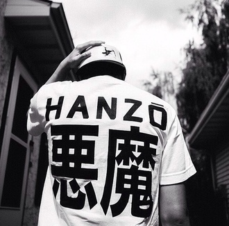 cute shirt japanese chinese letters streetwear streetstyle tumblr outfit t-shirt outfit hanzo menswear mens t-shirt