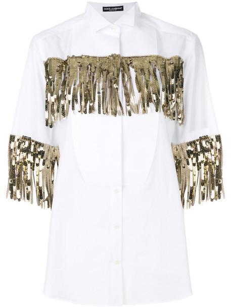 Dolce & Gabbana shirt women white cotton top