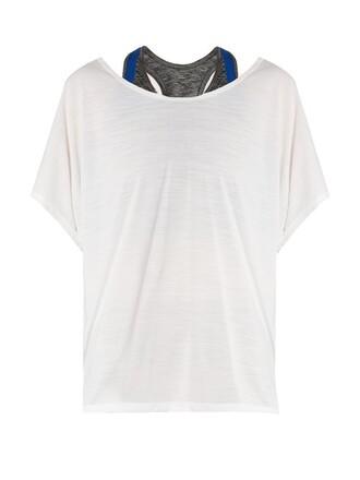 top layered white