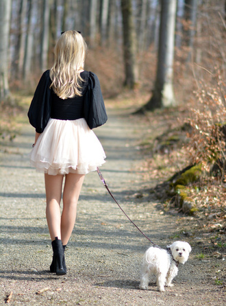 shirt fall outfits tulle skirt ankle boots dog skirt