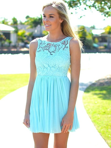 Dress: clothes, mint, lace, pinterest, homecoming, belt, cute ...
