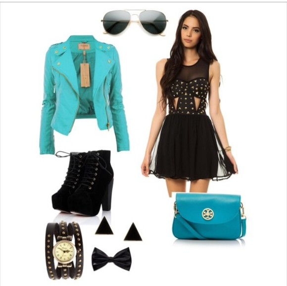 dress studded dress
