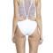 Macrame back one piece swimsuit - white