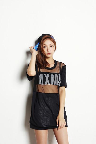 25d378ee716 mesh top, korean style, korean fashion, women shirts, asian fashion ...
