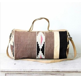 bag aztex ethnic navajo geometric hipster aztec travel bag