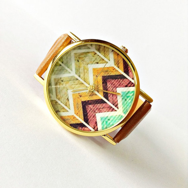 jewels chevron style etsy handmade watch watch