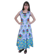 dress,maxi dress,blue long gown,floral maxi dress,womens summer gowns,trendy gowns,royal blue long gown,multicolored beautifull dress,fashion treends,cotton long gown,womenwear,clothes,mandala clothes,long gown,womens gowns,boho summer outfits,unique dress,dressy,womens style
