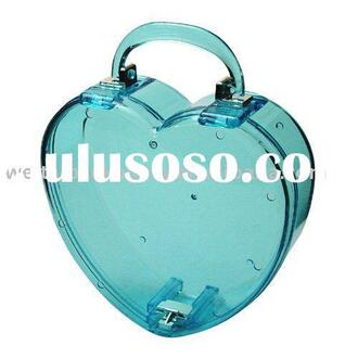 bag blue plastic translucent heart purse cute girly adorable af
