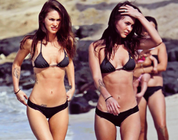 megan fox swimwear bathing suit black bikini