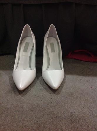 shoes topshop white pumps