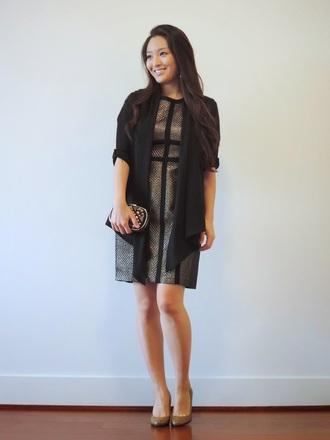 sensible stylista blogger cardigan silver shift dress holiday dress clutch shoes dress bag jewels