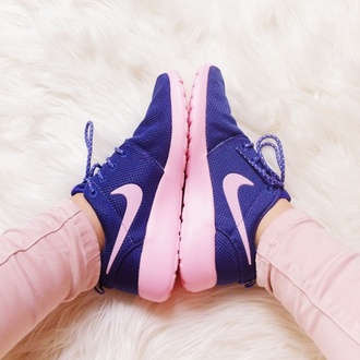 shoes nike running shoes nike roshe run nike shoes pink shoes blue shoes