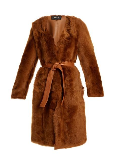 Rochas coat brown