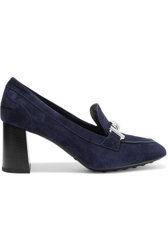 suede pumps embellished pumps navy suede shoes