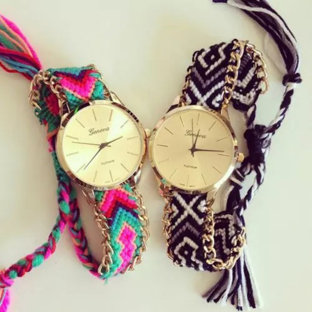 jewels watch watch colors watch tribal colorfull geneva