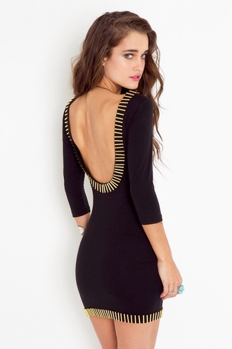dress black gold bodycon dress bodycon dress black bodycon rush little black dress low back low cut back low back dress