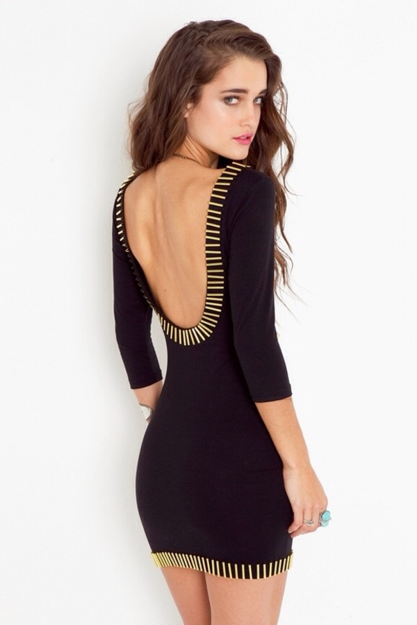 dress little black dress black gold bodycon bodycon dress black bodycon rush low back backless low back dress backless black dress black bodycon dress nastygal black and gold