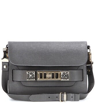 mini classic bag shoulder bag leather grey