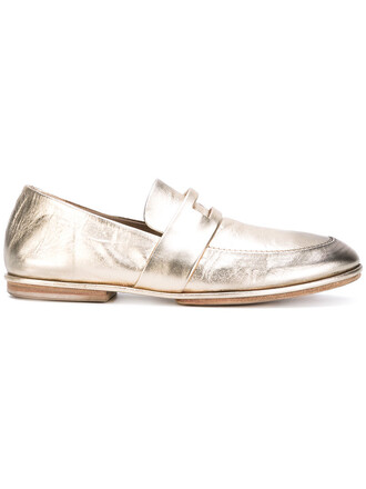 metallic women loafers leather grey shoes