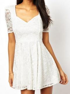 White lace skate dress