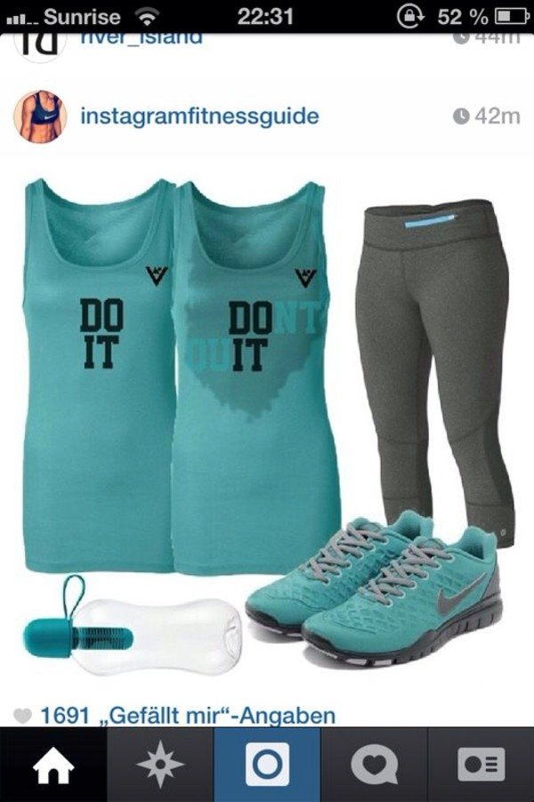 shirt fitness workout sweat blue