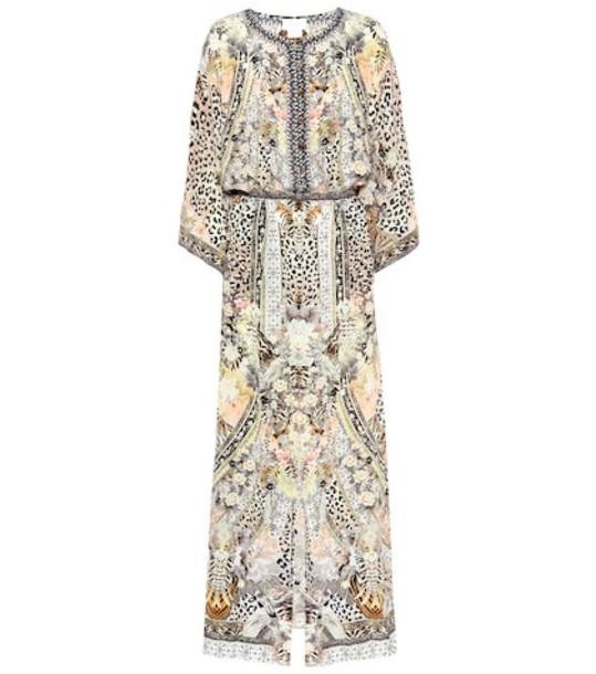 Camilla Printed silk maxi dress