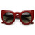Designer Inspired Large Round Circle Pointed Cat Eye Sunglasses 9180                           | zeroUV