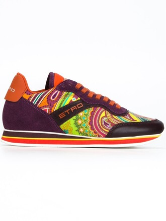 sneakers print paisley shoes
