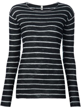 top striped top black