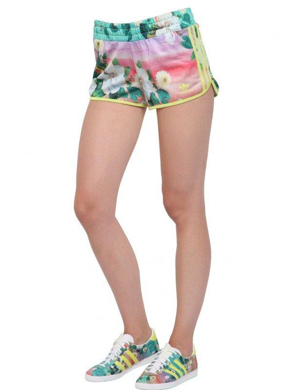 Adidas originals floral tricot gym shorts
