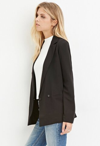 jacket blazer black blazer forever 21 business casual classic