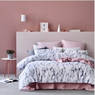 home accessory bedding tumblr bedroom baby pink blouse marble bedroom grey white urban outfitters