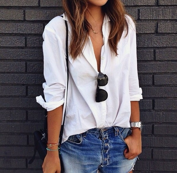 blouse sunglasses white summer outfits