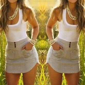 dress white grey summer