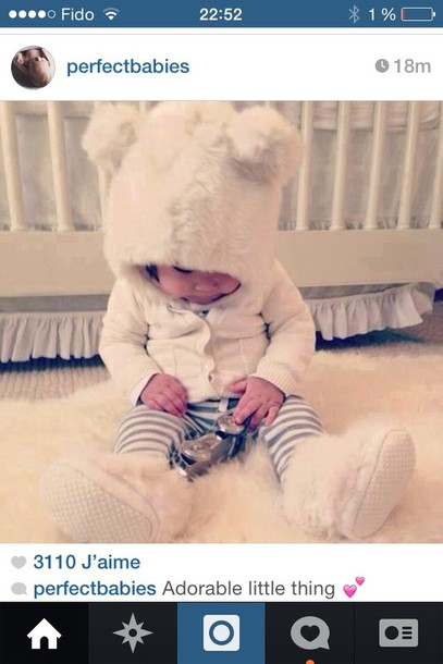hat cute white teddy fur fur hat kids fashion