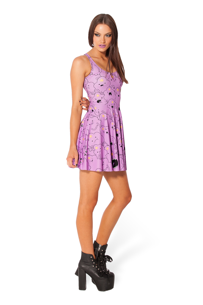 Lumpy space princess reversible skater dress