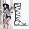 Women sandals 2015summer gladiator sandals women lace up fashion designer shoes woman knee high boot flats sandals free shipping-in women's sandals from shoes on aliexpress.com | alibaba group