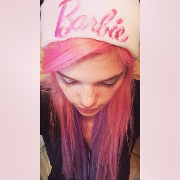 barbie pink hair beanie pink pastel pastel pink pastel grunge kawaii pastel hair
